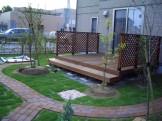 水はけを考慮した広々芝生に憧れのデッキでのくつろぎを 新発田市 H様邸