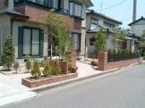 落葉樹を多めに入れたフロントガーデン 新潟市 O様邸