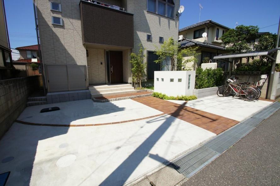 使いやすさと家族の円満を応援する外構に 新潟市 F様邸