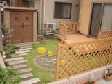 ディーズガーデン カンナが似合う子供たちが集まるお庭 新潟市T様邸