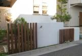 ハードウッドを取り入れた門周り 新潟市O様邸